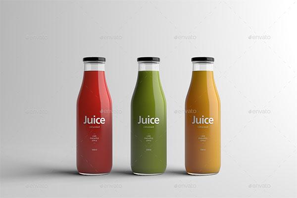Juice PSD Bottle Packaging Mock-Up