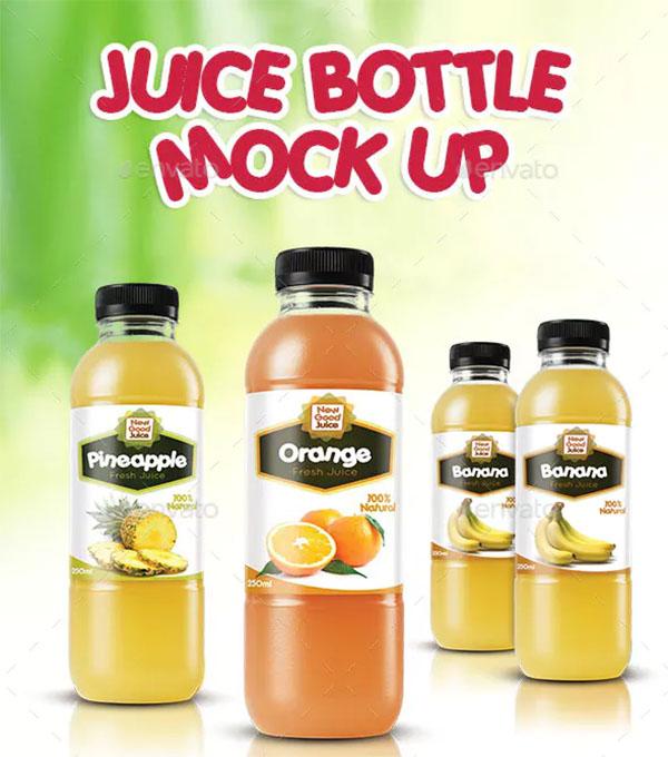 Juice Plastic Bottle Mockup