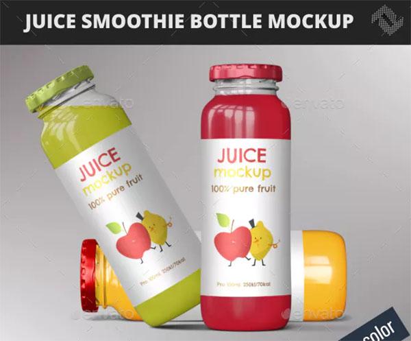 Juice Smoothie Bottle Mockup