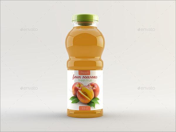 Juice or Tea Product Bottle Mockup