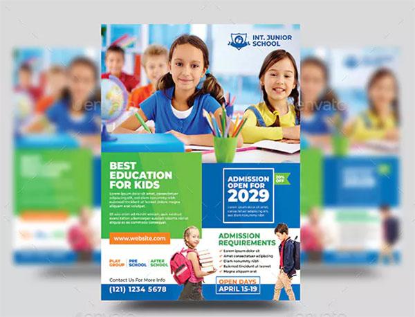 Junior School Admission Flyer Template