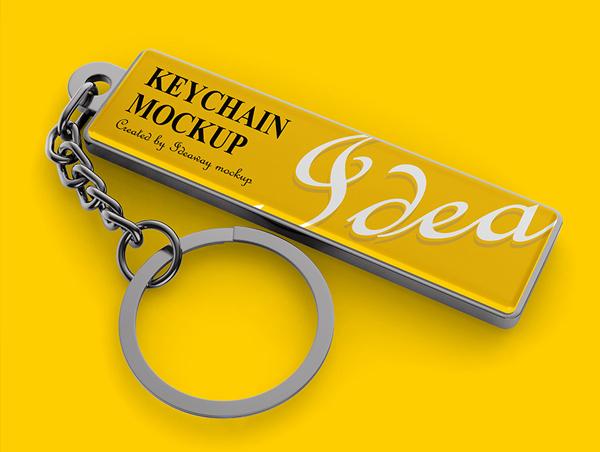 Keychain Mockup Free Download Template