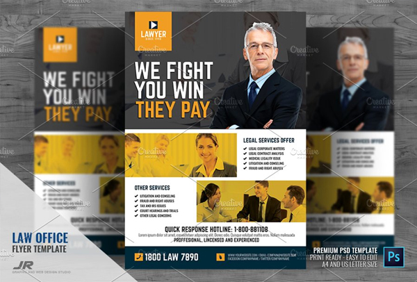 Law Firm and Law Office Flyer Template