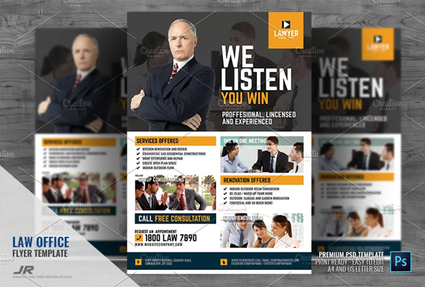 Law Firm and Legal Office Flyer