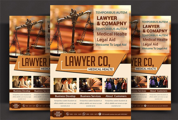 Lawyer Firm Business Flyer Design Template