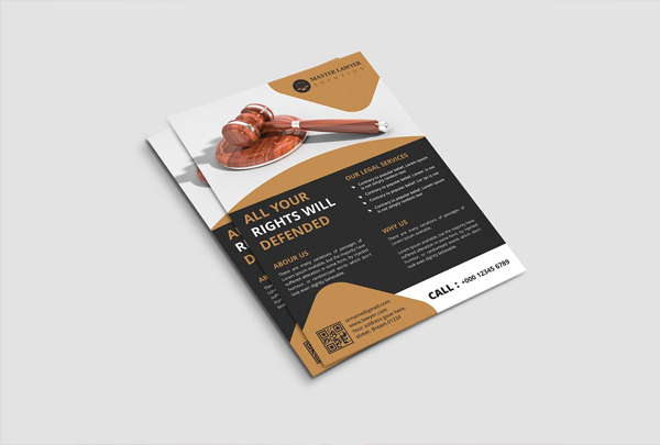 Lawyer Firm Flyer Editable Template