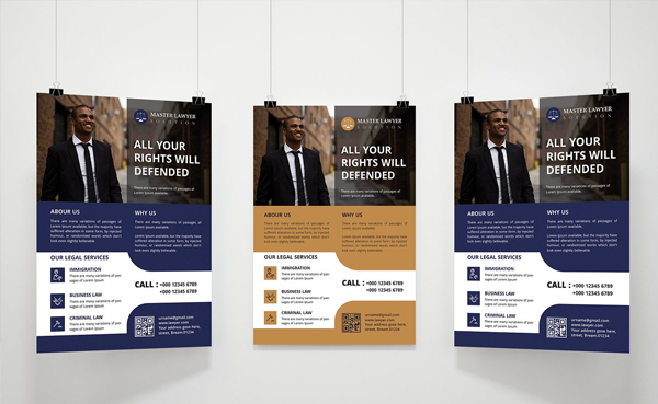 Lawyer Firm Flyer Printable Template