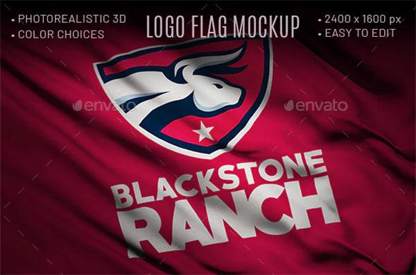 Logo Flag Mockup
