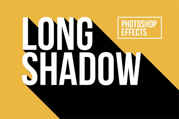 Long Shadow Photoshop Effects