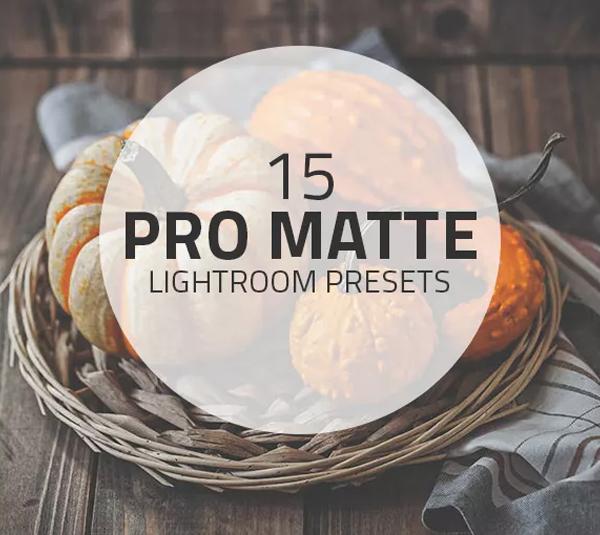 Matte Pro Lightroom Presets