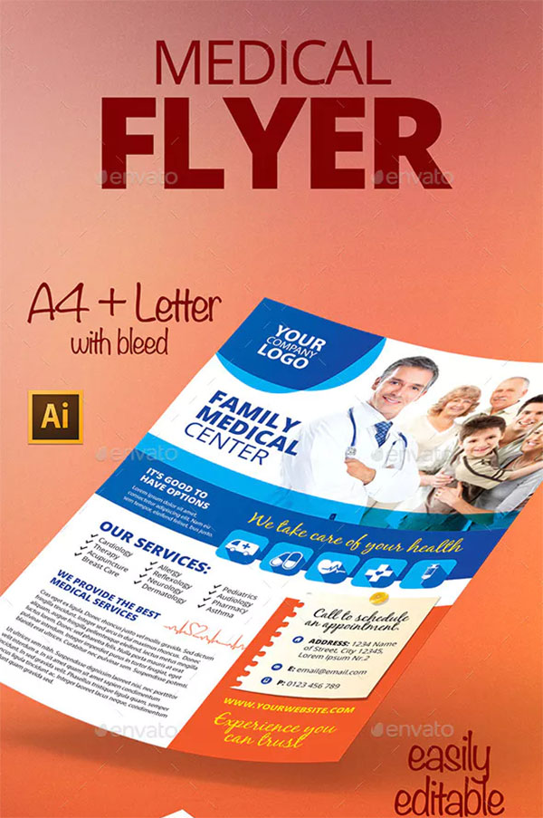 Medical Design PSD Flyer Template