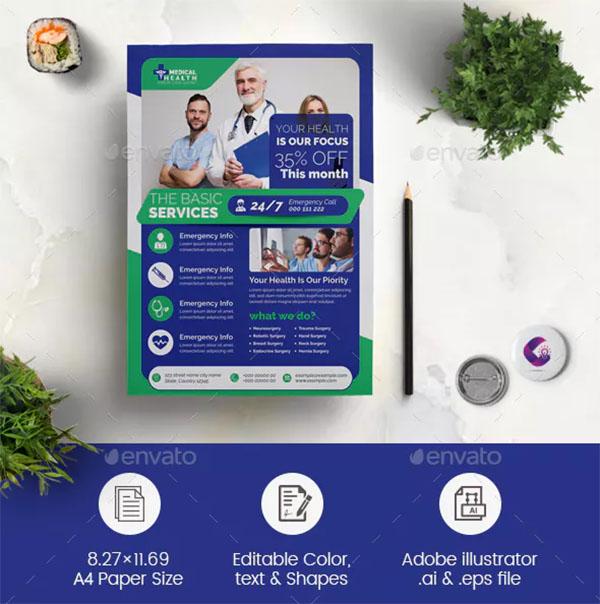 Medical Flyer Design PSD