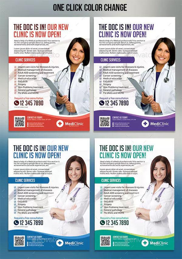 Medical PSD Flyer Designs