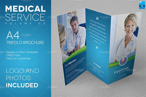 Medical Service A4 Trifold Flyer