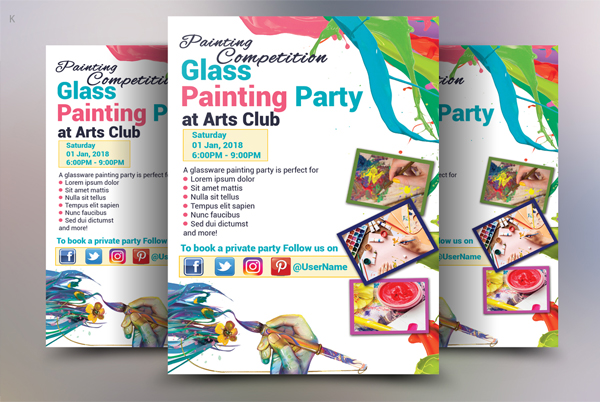 Modern Clean Painting Flyer Template