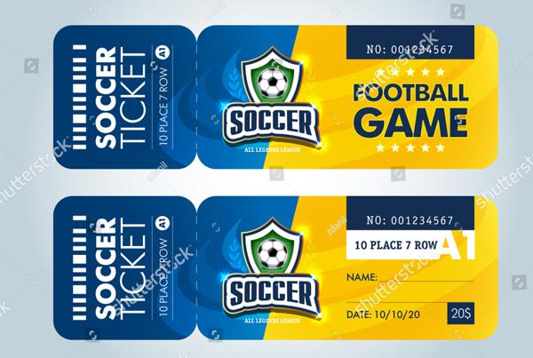 Modern Professional Design of Football Tickets
