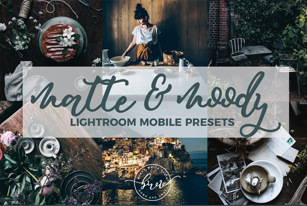 Moody Matte Mobile Lightroom Presets