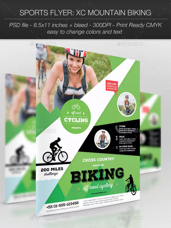 Mountain Biking Sports Flyer Template