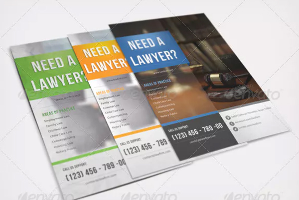 Multi Colors Corporate Lawyer Flyer Template