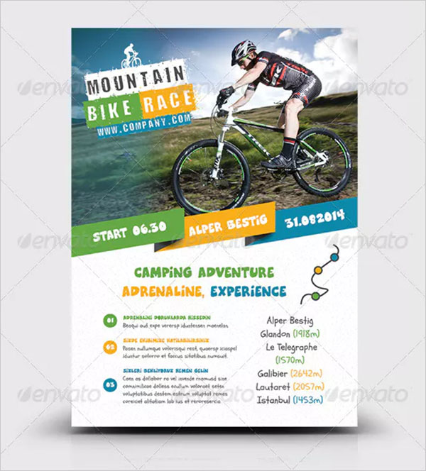 PSD Bicycle Racing Flyer Template