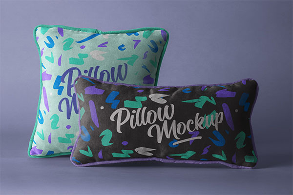 PSD Throw Pillow Mockup Set