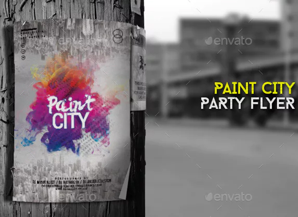 Paint City Flyer and Poster Template