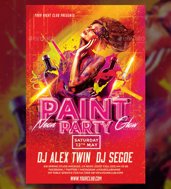 Paint Party Flyer Design