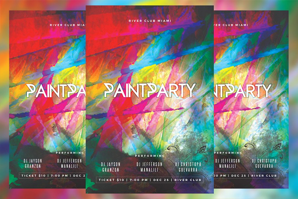 Paint Party Flyer Printable Template