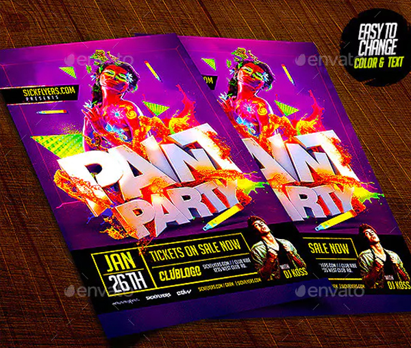Paint Party Flyer