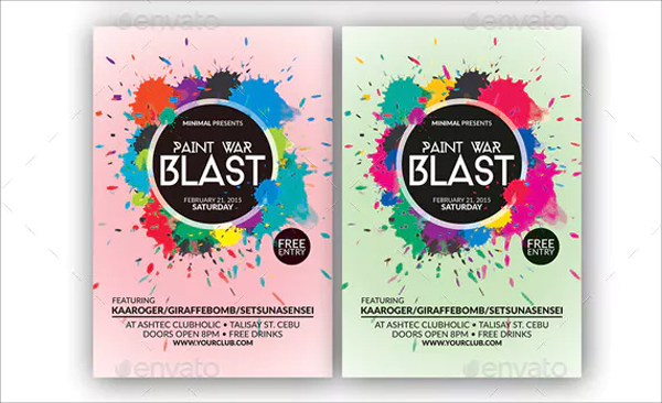 Paint War Blast Flyer