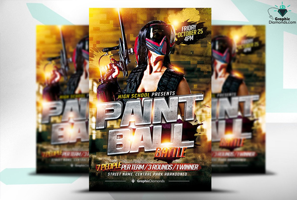 Paintball Battle PSD Flyer