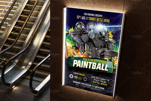 Paintball Flyer Simple Template
