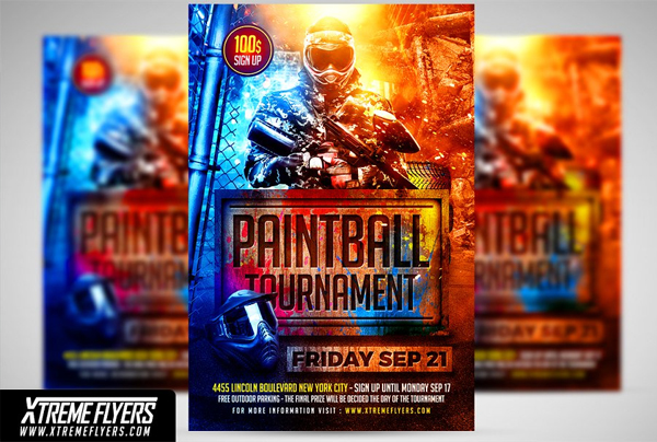 Paintball Tournament Flyer Template