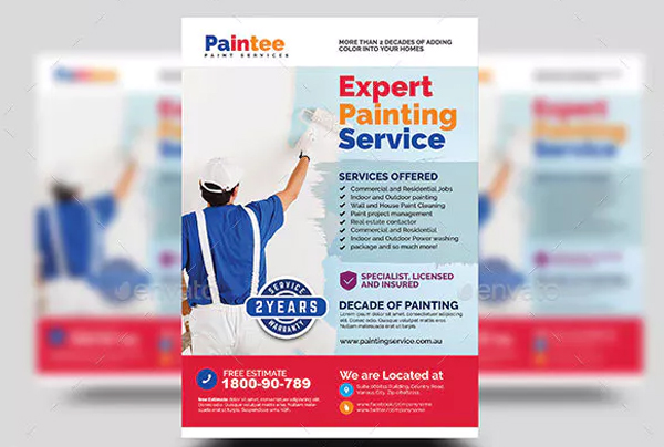 Painting Contractor Flyer Design Template