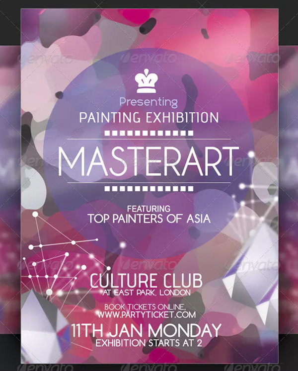 Painting Exhibition Flyer Design Template