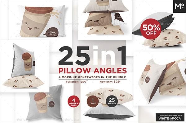 Pillow Angles Mock-up Bundle