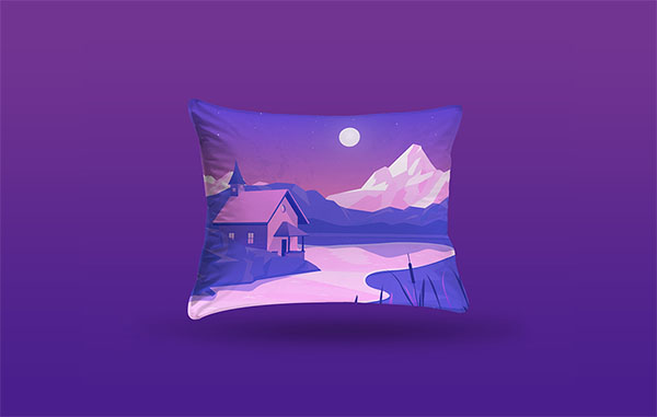 Pillow Mockup Free PSD Template