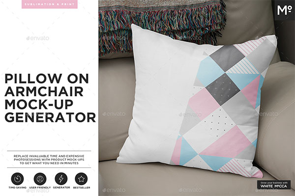 Pillow on the Armchair Generator Mock-up