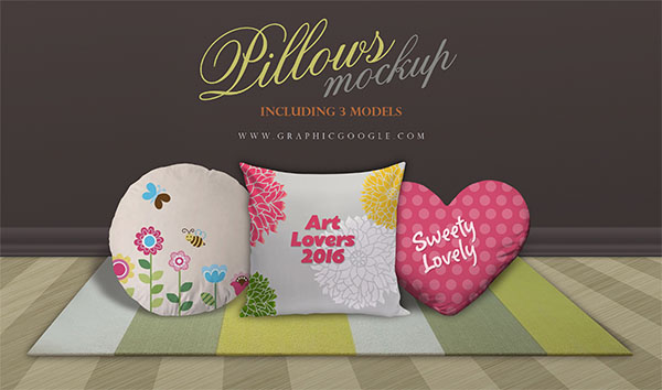 Pillows Mockup Model Designs