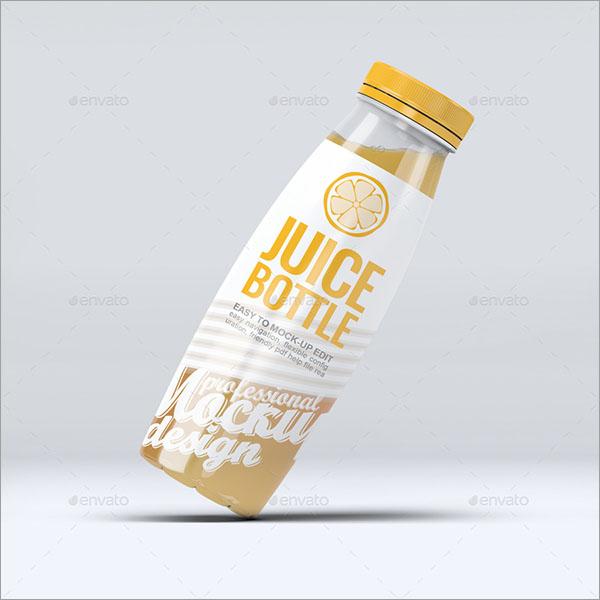 Plastic Juice Bottle Mock-Up