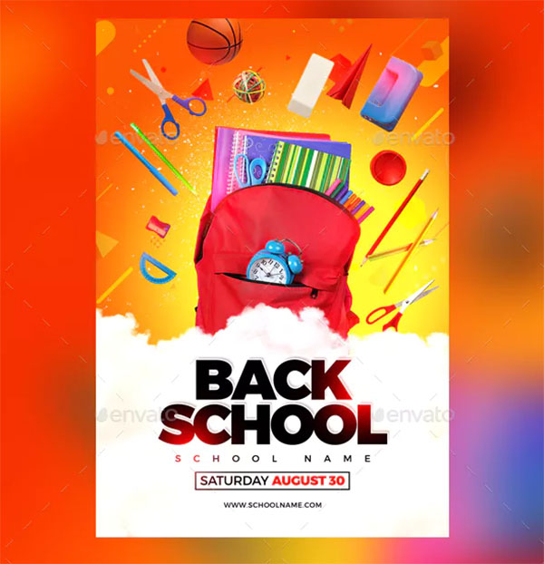 Print Back To School Flyer Template