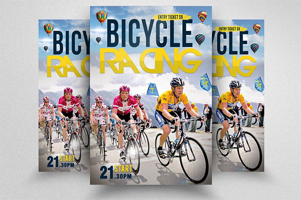 Print Bicycle Racing Flyer Templates