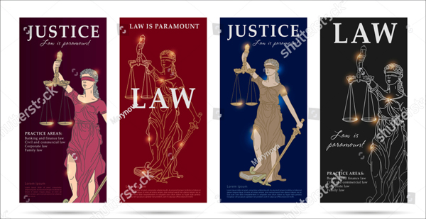 Law and Justice Set of Flyers