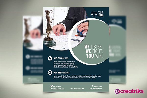 Printable Lawyer Flyer Template