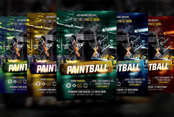 Printable Paintball Flyer Template