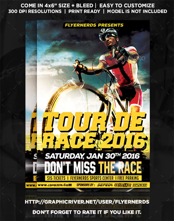 Race Bicyle Championships Sport Flyer