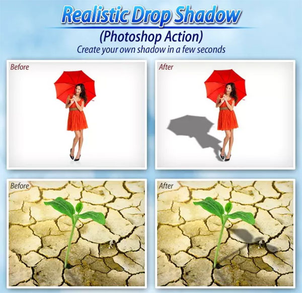 Realistic Drop Shadow Photoshop Action