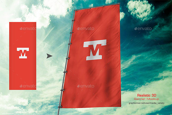65 Flag Mockups Free And Premium Photoshop Format Downloads