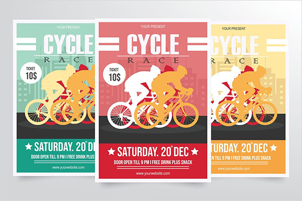 Road Bicycle Racing Flyer PSD Template