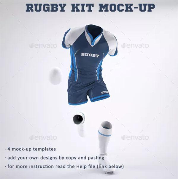 Rugby Team Kit Uniform Mock-Up